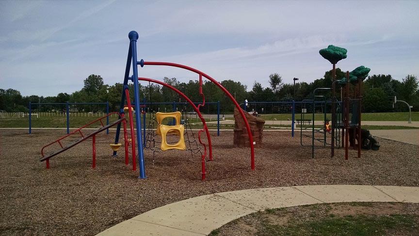 Hawkins Elementary school playground in Brighton MI