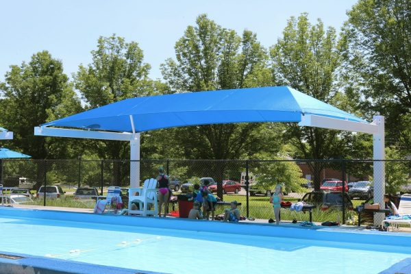 Pool Shade in Arlington OH built by Midstates Recreation