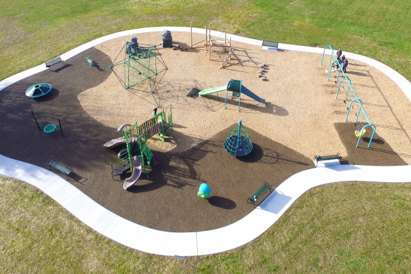 Aerial view of Jefferson Community Park in Blacklick OH